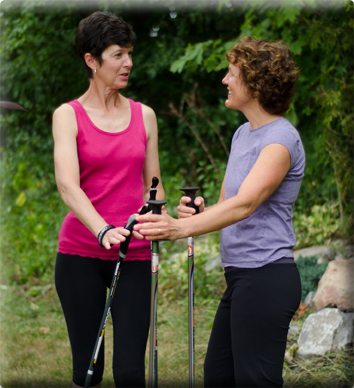 keep walking | Nordic Walking for Client