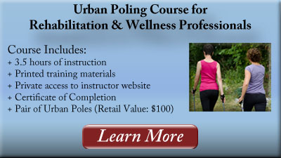 urban poling for rehabilitation and wellness professionals
