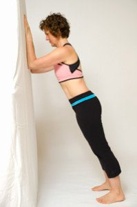 wall plank exercise