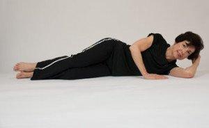side lying leg lifts