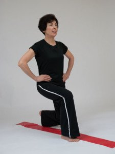 forward lunge exercise