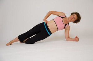 Side Plank Exercise Roll for Active Level