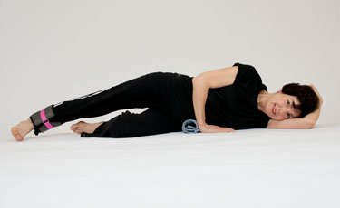 side lying leg lift with weight