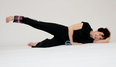 The side lying leg lift with weight