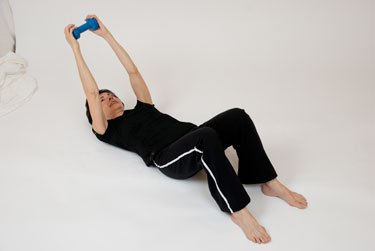 Tricep Extensions Supine Tricep Press Video Of Five