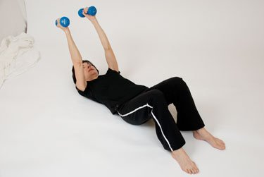 triceps extension on floor