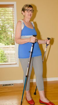 treat a compression fracture | nordic walking