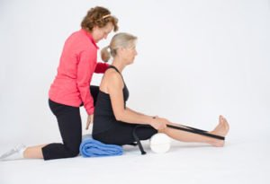 yoga practitioner with osteporosis