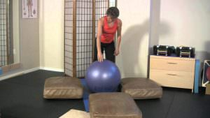 Four Point Balancing on a Ball Exercise