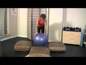 balance ball exercises • 3 variations