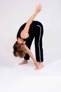 osteoporosis exercises to avoid • toe touch with twist