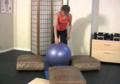 Four Point Balance on Ball for Athletic Level
