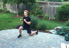 clock lunge exercise