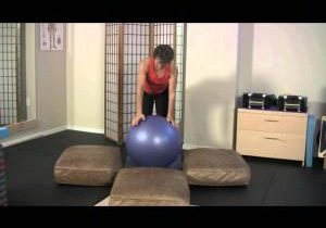 Three Point Balance on Ball for Athletic Level